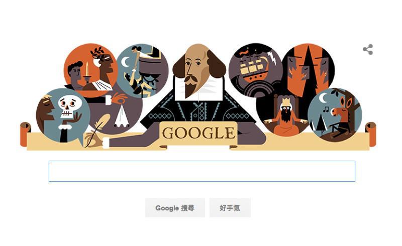 是Google塗鴉:莎士比亞冥誕400週年這篇文章的首圖