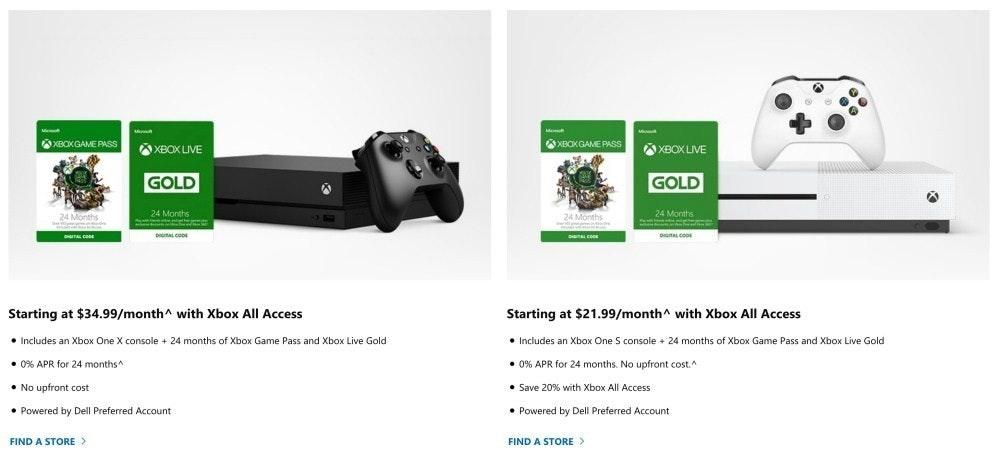 是微軟確定推出Xbox All Access訂閱服務 綁約兩年送Xbox One主機這篇文章的首圖