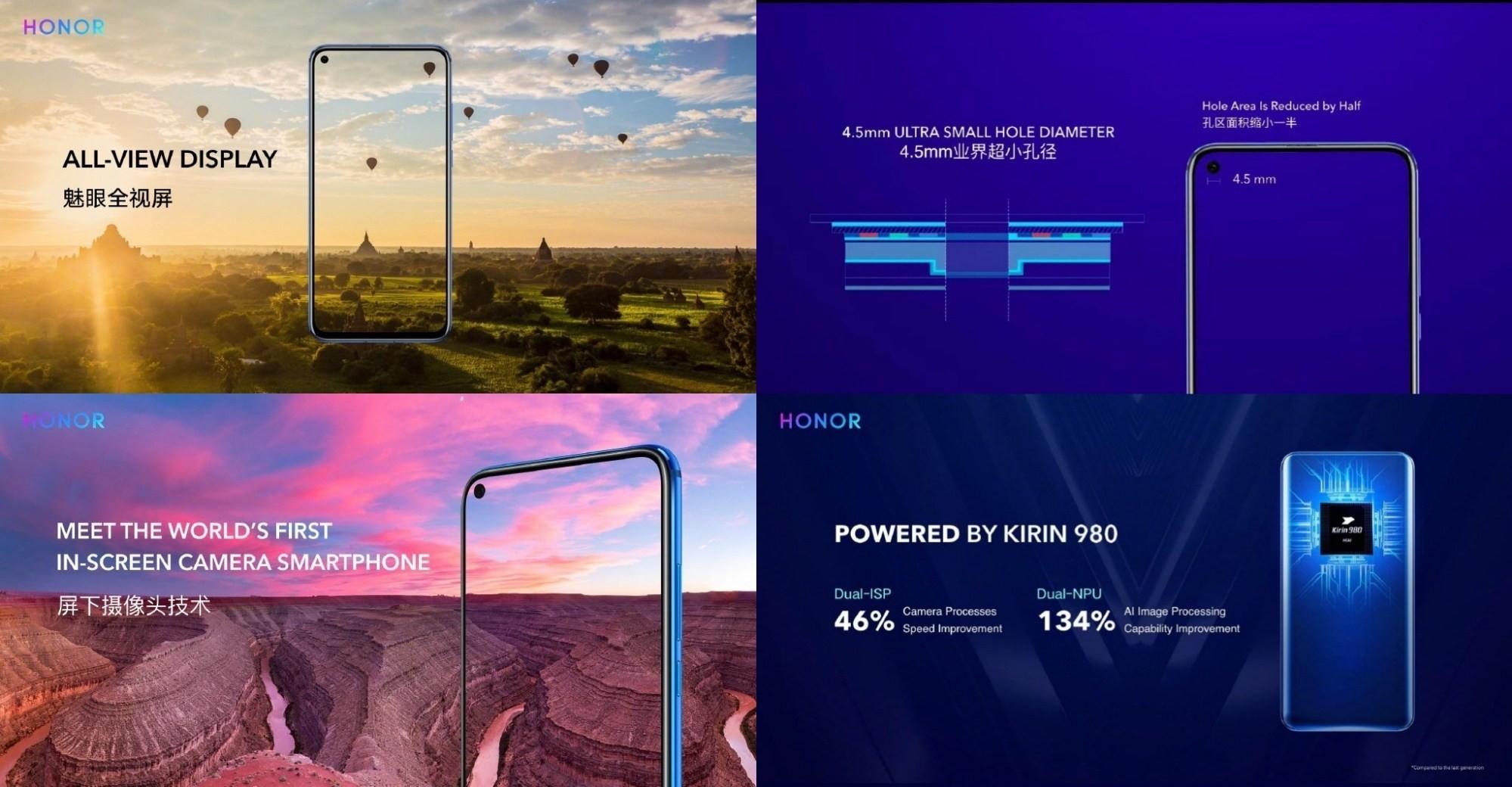 是榮耀View 20將採用螢幕下視訊鏡頭設計,搭載Kirin 980、Link Turbo技術這篇文章的首圖