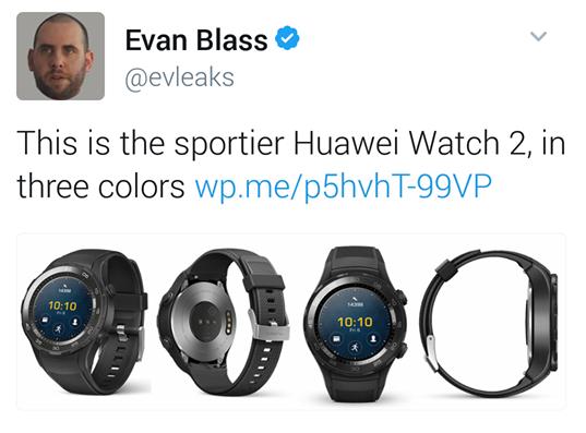 是MWC上見!全新Huawei Watch 2高清圖首曝:主打運動風格!這篇文章的首圖