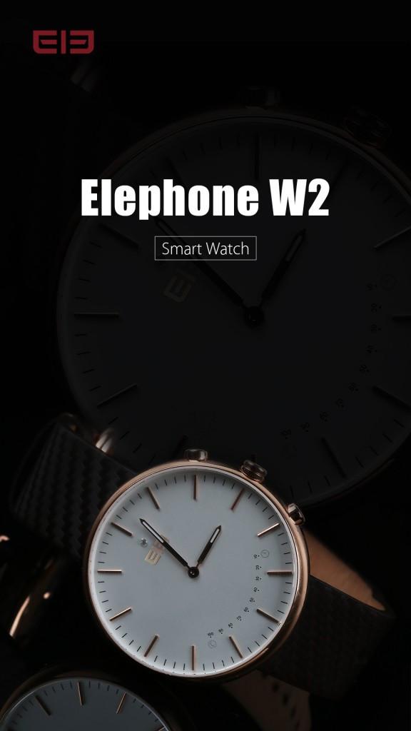 是Elephone即將推出智能手錶界中的價格屠夫W2!這篇文章的首圖