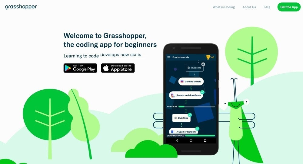 是Google 推兒童學習編碼 App「Grasshopper」,用手機快速學會 JavaScript這篇文章的首圖