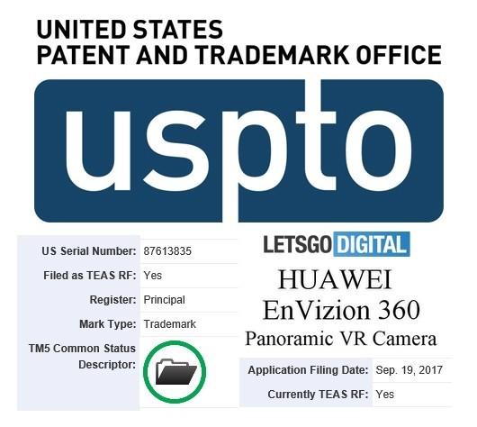 是Huawei EnVizion 360 Panaromic VR相機商標曝光!Mate 10或有360°VR全景相機?!這篇文章的首圖