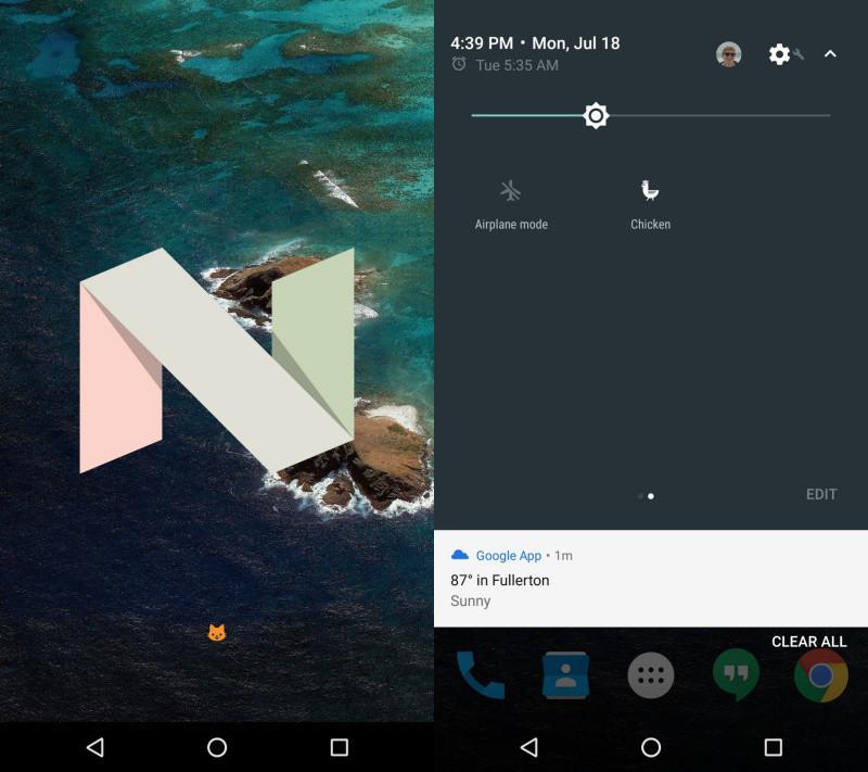 是Android 7.0全新隱藏彩蛋:電子貓這篇文章的首圖