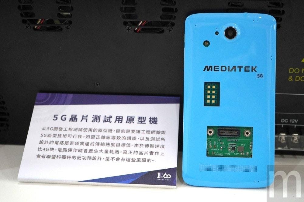 是聯發科在台展示智慧型手機尺寸設計的5G網路裝置原型機這篇文章的首圖
