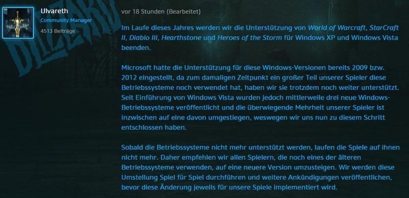 是《魔獸世界》、《星海爭霸2》等遊戲今年內不再對應舊版Windows遊玩這篇文章的首圖