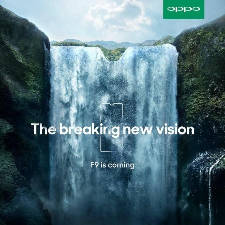是OPPO透露即將推出的新機F9將搭載水滴造型「瀏海」螢幕這篇文章的首圖