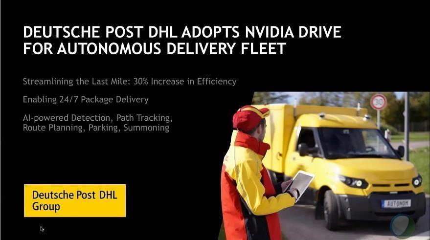 是NVIDIA與DHL合作 預計2019年開始提供全年無休自動駕駛貨運服務這篇文章的首圖