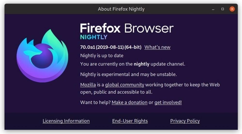是Mozilla在Firefox 70將開始導入全新品牌標誌、取消「Quantum」字樣這篇文章的首圖