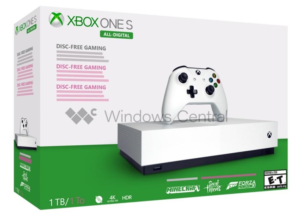 是無光碟版Xbox One S All-Digital將於5/7開放銷售,同捆三款數位版遊戲這篇文章的首圖