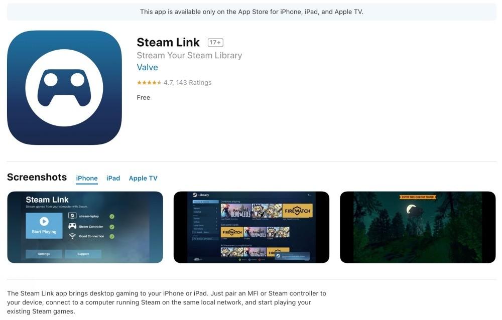 是拿掉內建購買機制後,Steam Link終於獲准在App Store上架這篇文章的首圖