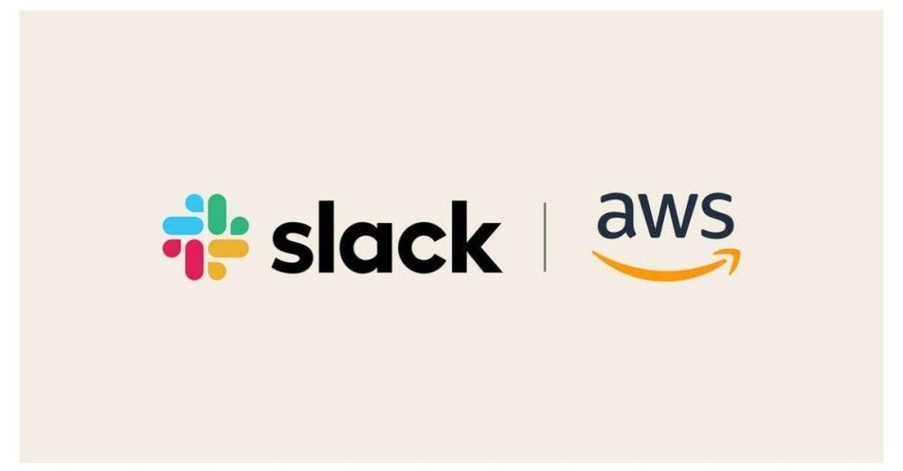 照片中提到了f slack、slack aws,跟鬆弛技術有關,包含了圖形、商標、牌、產品設計、字形