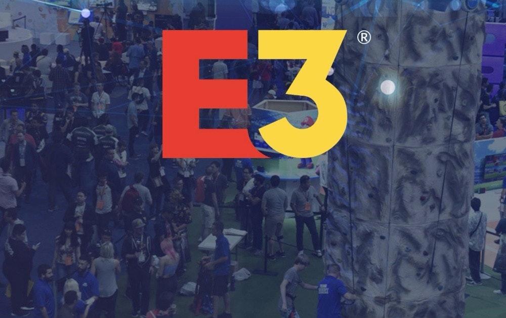 照片中提到了E3、(R,包含了E3取消、2020年電子娛樂博覽會、E3 2017、娛樂軟件協會、動物穿越:新視野