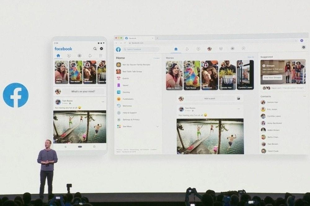 照片中提到了204、facebook、Suggested,跟劍橋分析有關,包含了新的Facebook設計、設計、社交媒體、設計變更、商標