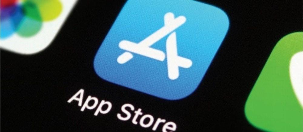 照片中提到了App Store,跟蘋果公司。有關,包含了小工具、應用商店、計算機應用、下載、商標