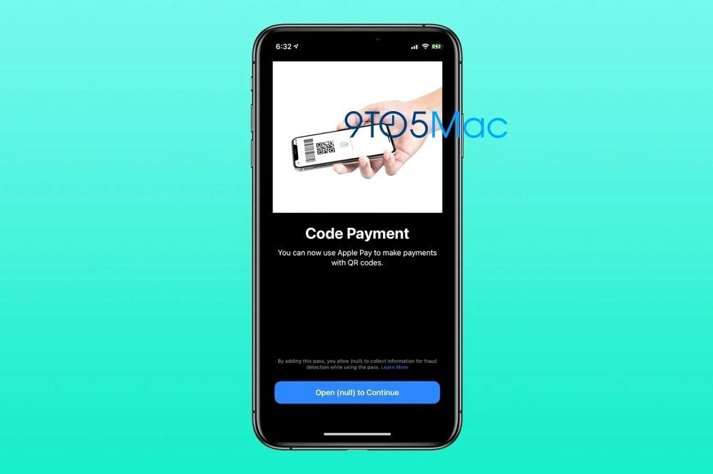 照片中提到了6:32 4、Code Payment、You can now use Apple Pay to make payments,包含了功能手機、手機、功能手機、移動電話、蘋果