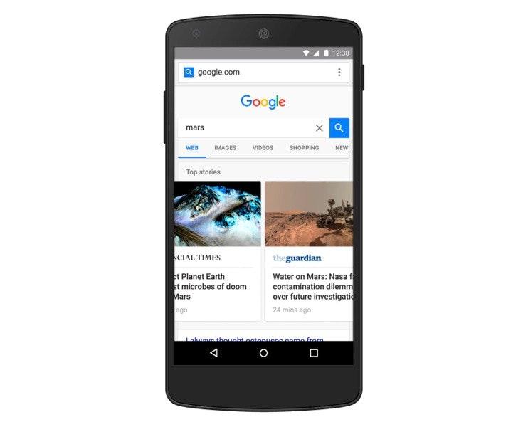 照片中提到了12:30、a google.com、Google,跟谷歌有關,包含了功放、加速的移動頁面、行動網路、安卓系統