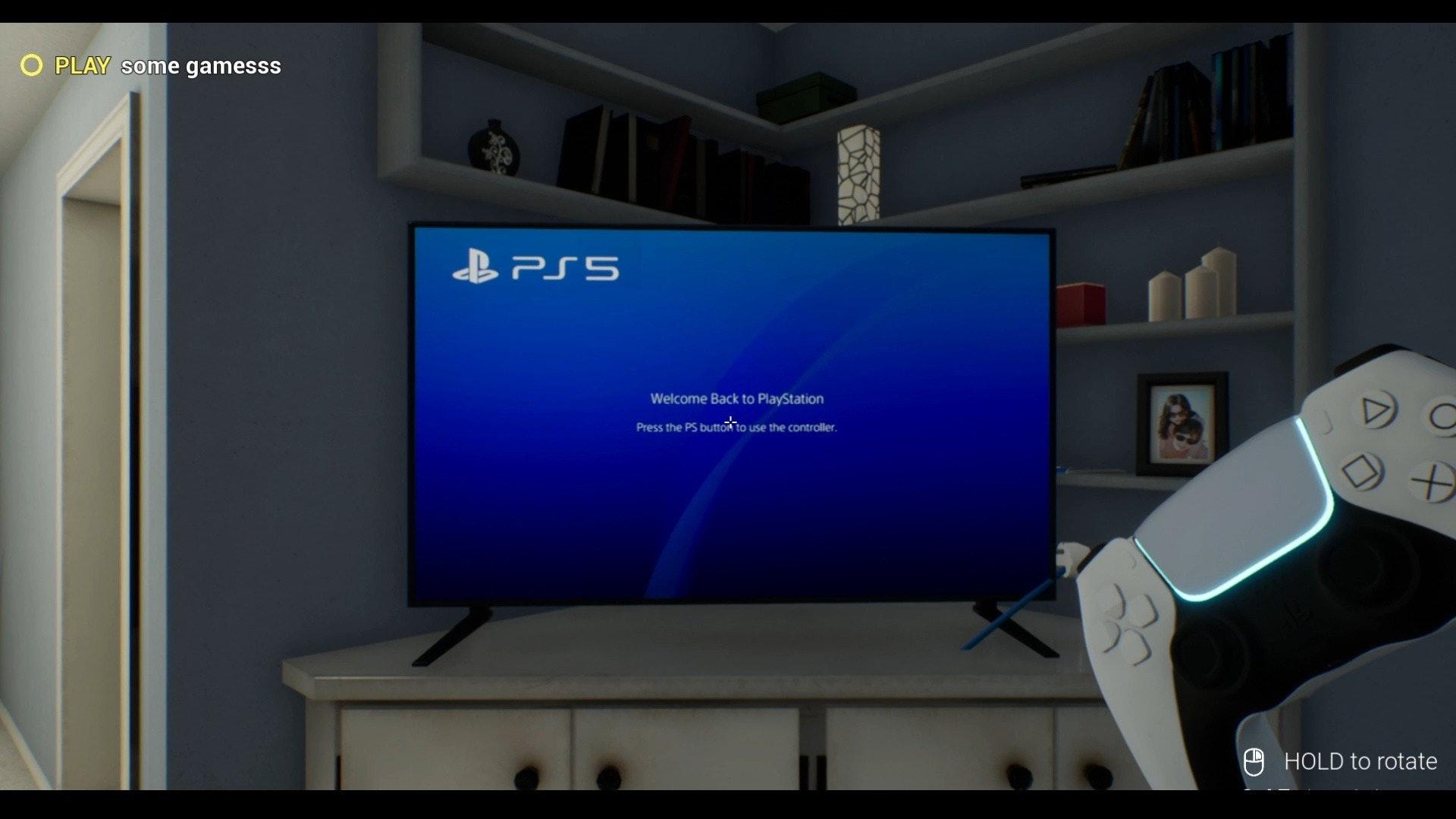 照片中提到了O PLAY some gamesss、B PS 5、Welcome Back to PlayStation,跟紳士有關,包含了電子遊戲機、的PlayStation 5、模擬電子遊戲、電子遊戲開發商、的PlayStation 4