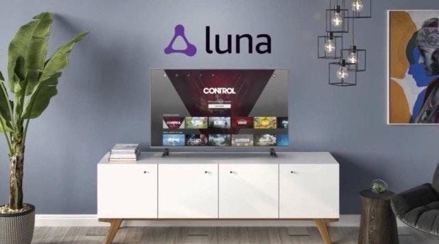 照片中提到了A luna、CONTROL、ARMR,包含了多媒體、雲遊戲、雲計算、亞馬遜網絡服務、育碧