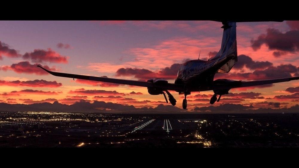 照片中包含了微軟模擬飛行2020、微軟飛行模擬器、微軟飛行、Xbox One、E3