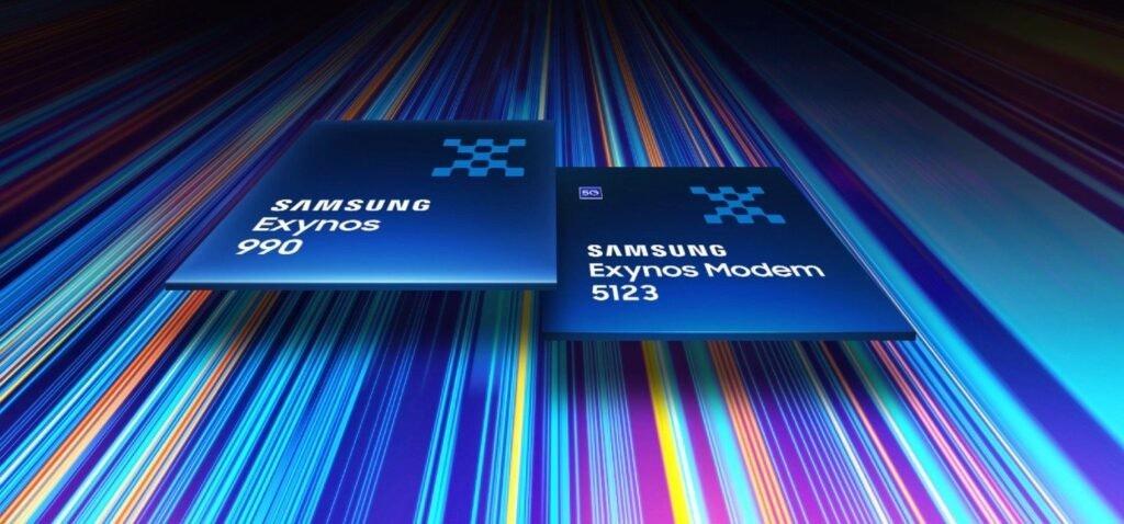 照片中提到了SAMSU NG、Exynos、SAMSUNG,包含了exynos 990、三星Galaxy S20、Exynos、7納米、三星