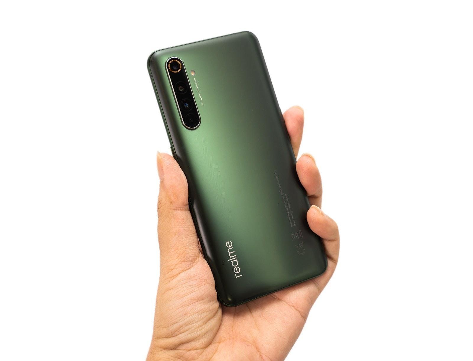 照片中提到了realme,包含了手機、手機、功能手機、Realme X50 Pro 5G、Realme