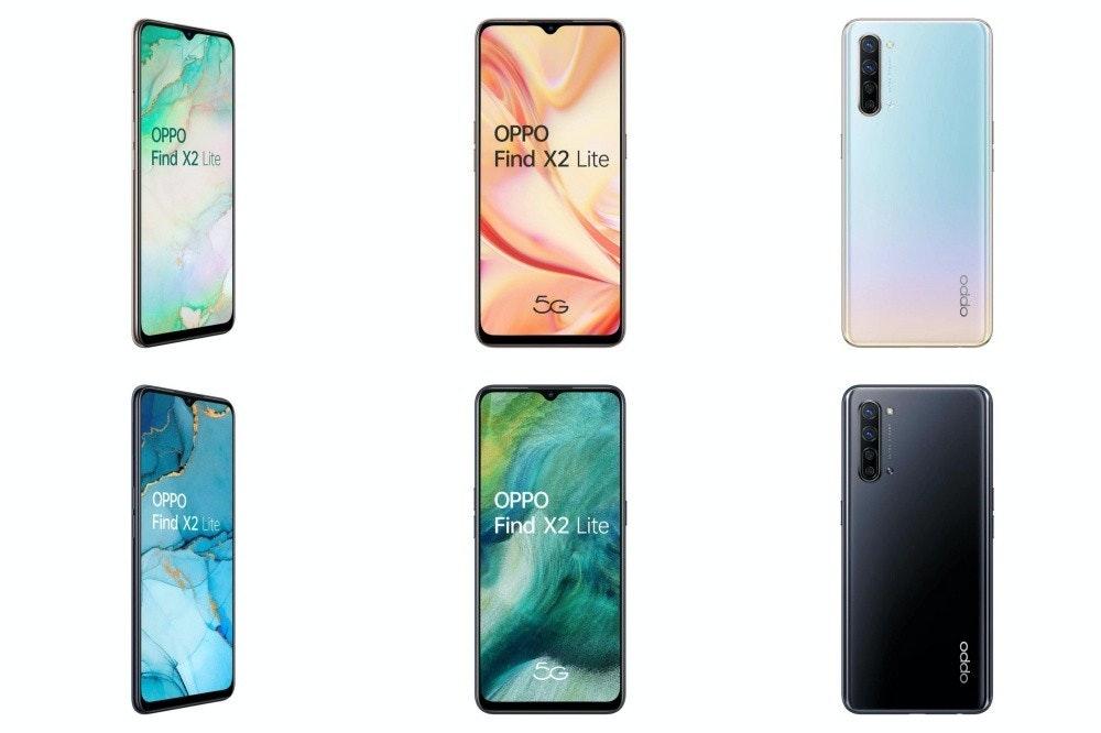照片中提到了OPPO、Find X2 Lite、OPPO,包含了功能手機、功能手機、手機、OPPO Find X2、手機配件