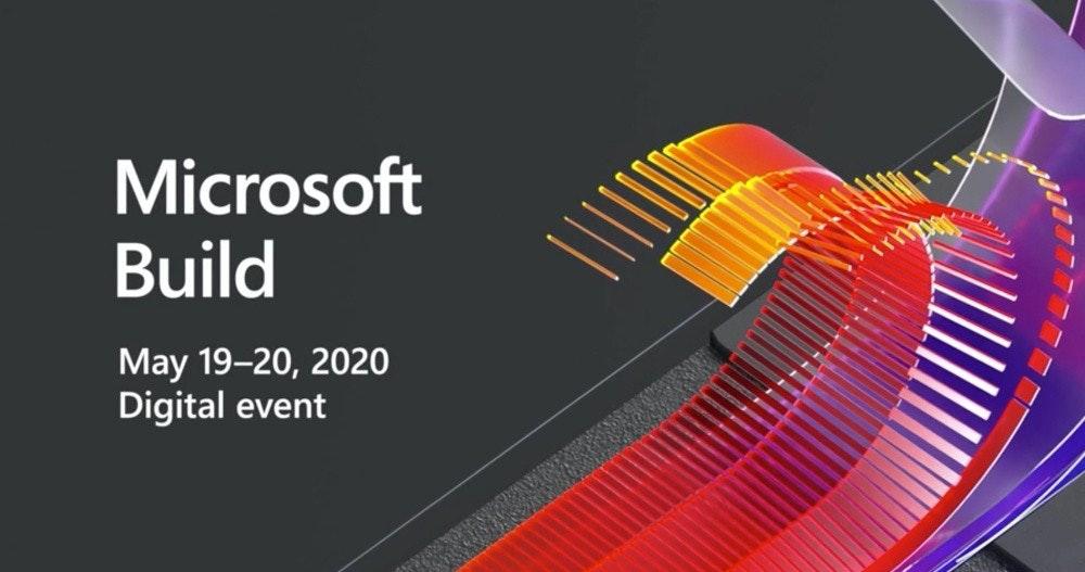 照片中提到了Microsoft、Build、May 19-20, 2020,跟微軟工作室有關,包含了平面設計、Microsoft Visual C#逐步、微軟公司、Microsoft Visual Studio、電腦文件