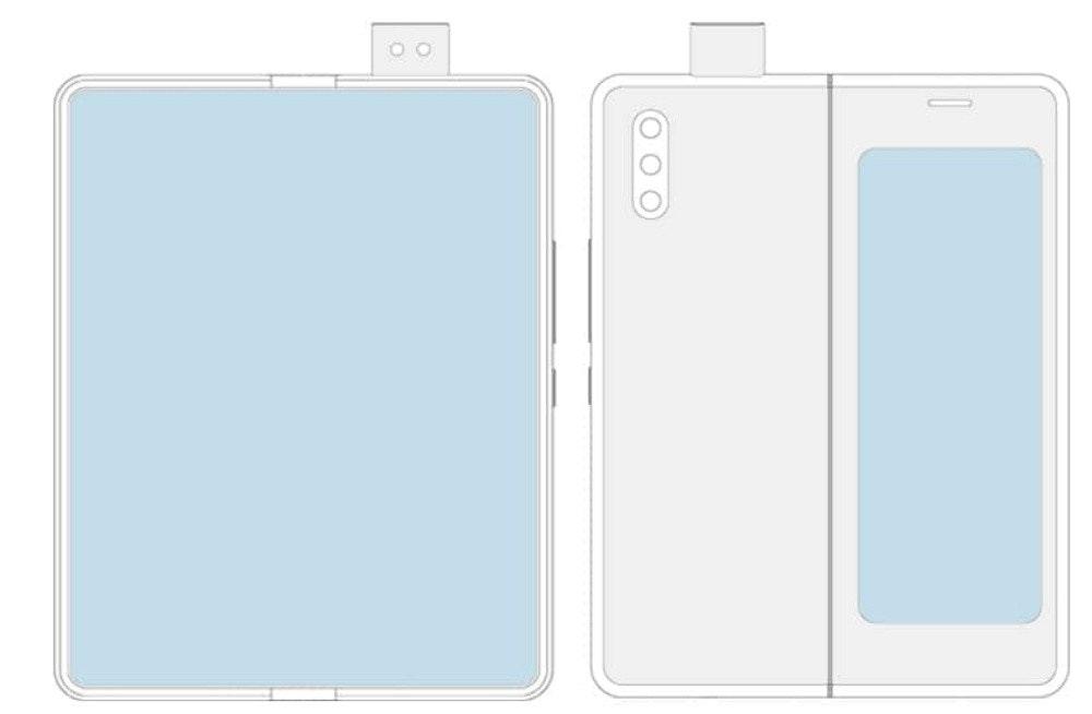 小米申請類似 Galaxy Fold 螢幕可凹折手機設計專利 但是換上升降鏡頭模組