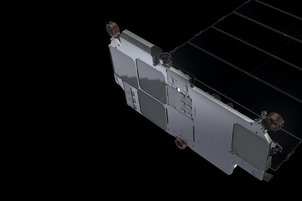 照片中包含了星際衛星、星聯、衛星、太空X、低地球軌道