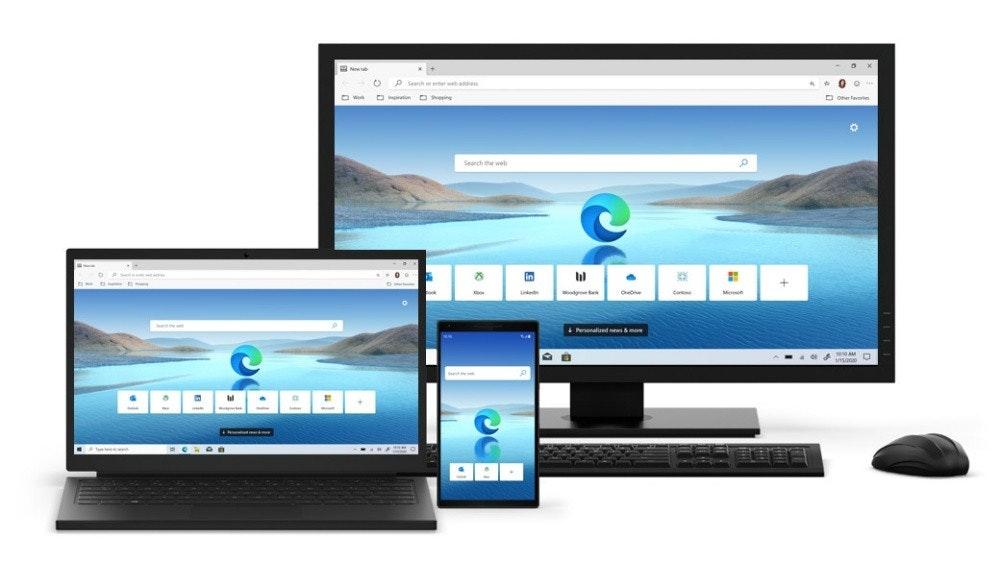 照片中提到了O P Seh ore、O tn ing、Search the web,包含了微軟Edge PC、微軟邊緣、微軟公司、網頁瀏覽器、谷歌瀏覽器