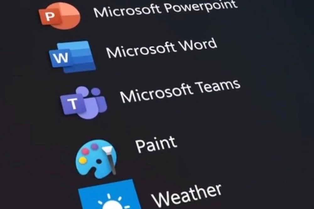 照片中提到了Microsoft Powerpoint、Microsoft WNord、Microsoft Teams,包含了多媒體、計算機程序、電腦、手機、操作系統