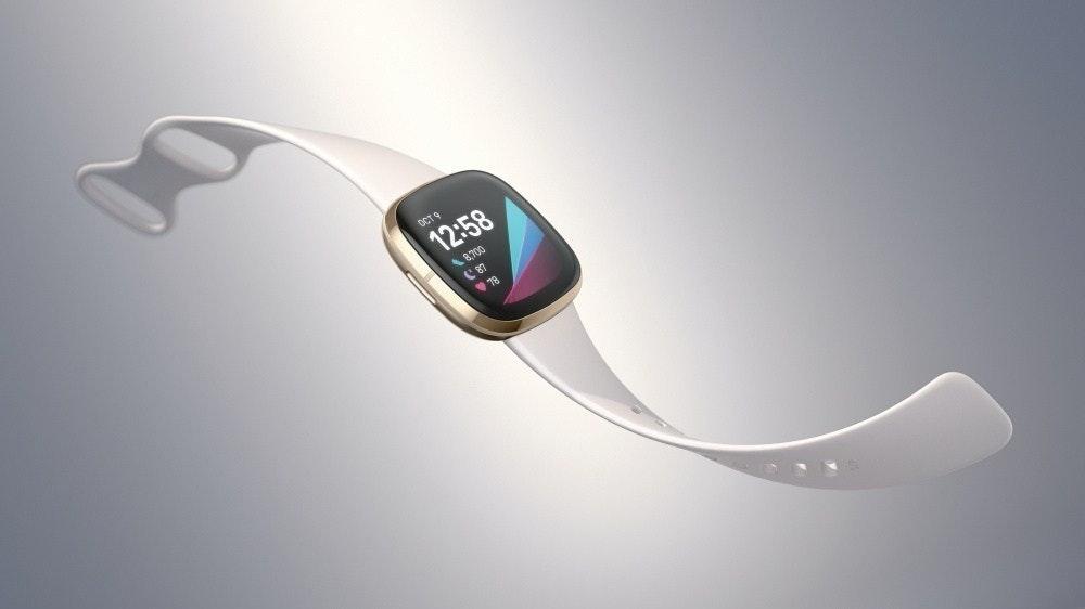 照片中提到了OCT9、12:58、8700,包含了適應感、適應感、Fitbit Versa 3、智能手錶、Fitbit