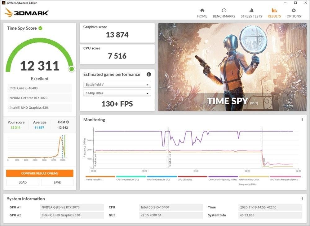 3DMark 效能測試結果介面更新 比較同級裝置、遊戲執行結果 數據更貼近真實使用場景