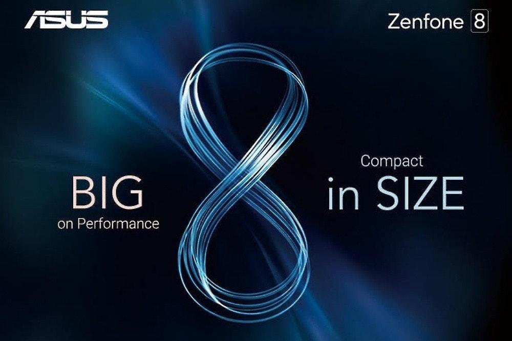 照片中提到了ASUS、Zenfone 8、Compact,跟華碩、華碩有關,包含了光、華碩ZenFone、產品設計、牌