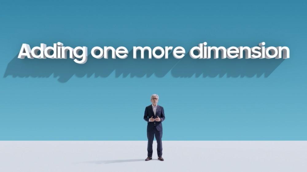 照片中提到了Adding one more dimension,包含了天空、公共關係、人的、在線廣告、人類行為