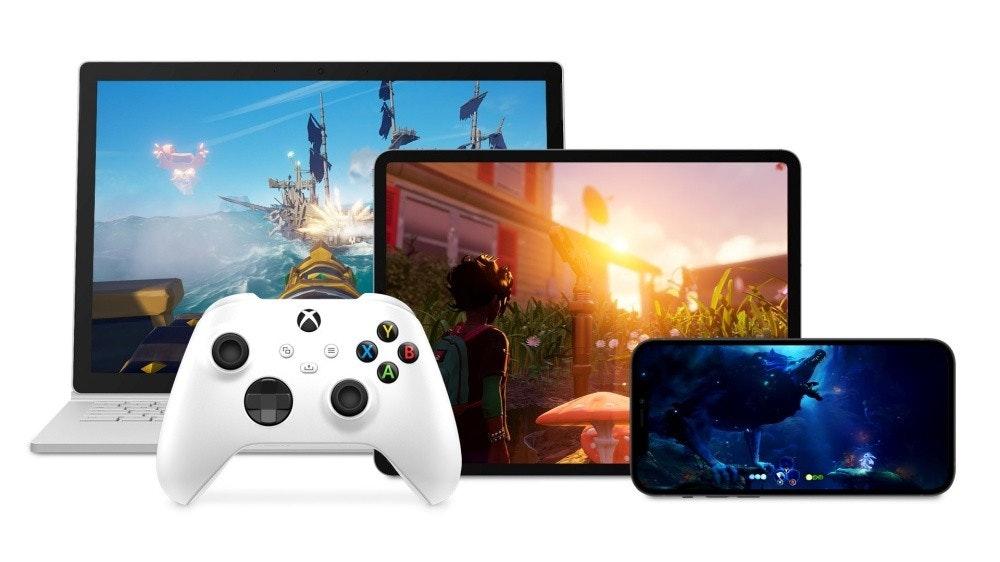 照片中包含了Xbox雲遊戲、Xbox雲遊戲、Xbox One、雲遊戲、Xbox遊戲通行證