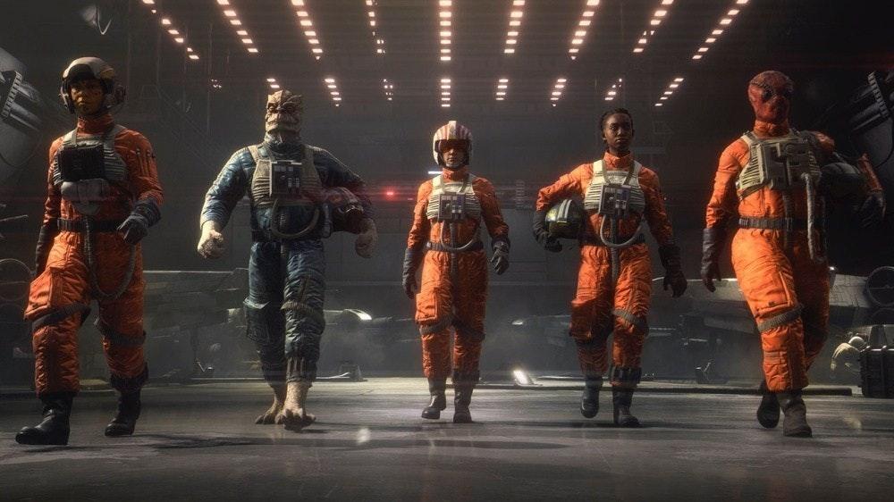 照片中包含了星球大戰中隊、星球大戰:中隊、星球大戰:TIE戰鬥機、星球大戰:X翼、電子藝術