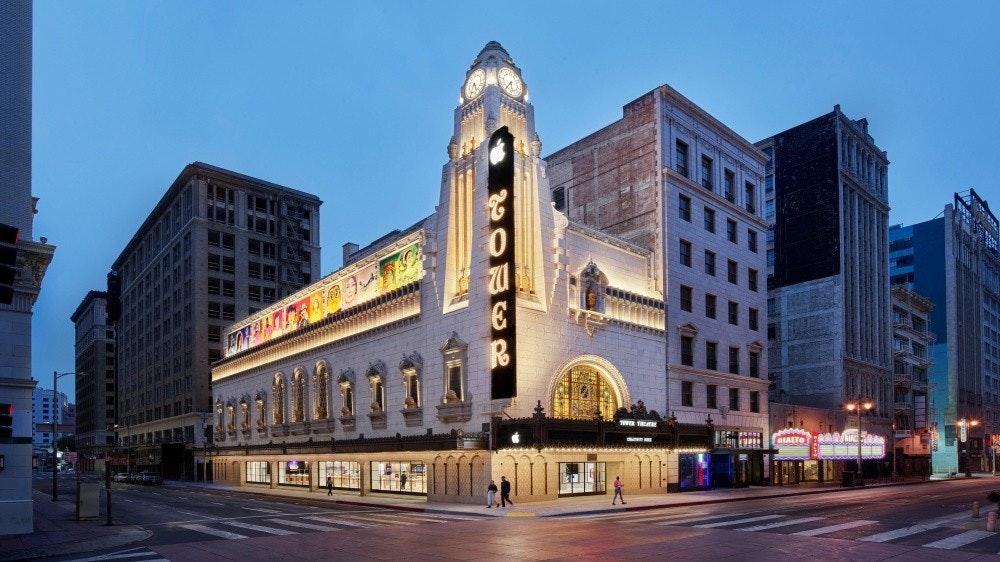 照片中提到了CIALTO,包含了洛杉磯市中心、塔劇院、蘋果塔劇院、建築、洛杉磯創意工作室