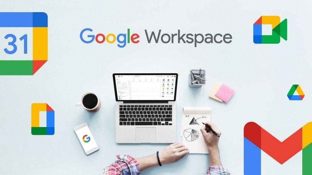 照片中提到了31、Google Workspace、G,跟谷歌、谷歌有關,包含了適應生活的工作、工作、股票攝影、工作與生活的平衡、圖片