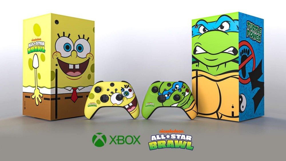 照片中提到了RUGFLE、POWER、nicuelodeon,跟的Xbox、HC尤格拉有關,包含了鮑勃·埃蓬格、Nickelodeon 全明星爭吵、Xbox One、Xbox系列X、微軟
