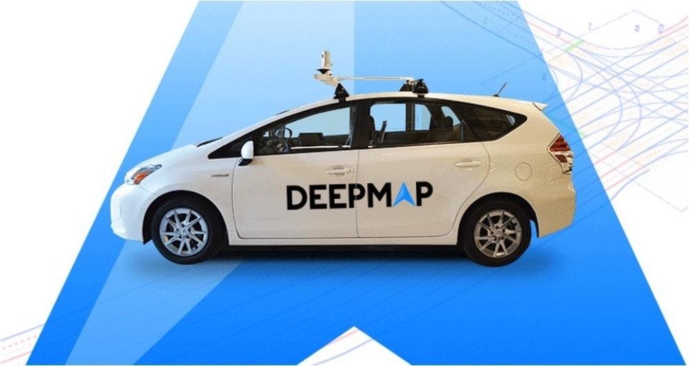 照片中提到了DEEPMAP,包含了車門、汽車、自動駕駛汽車、電動車、緊湊型車