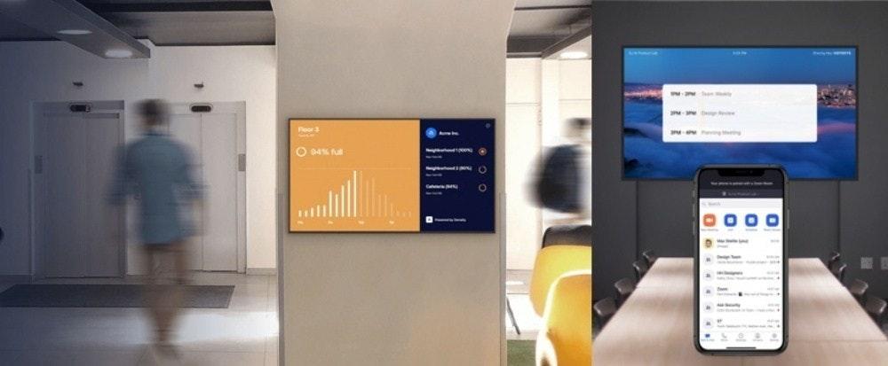 照片中提到了Floor 3、Amee、O 94% ful,包含了通訊設備、工作場所、斯通布魯克教堂、辦公室、互動亭