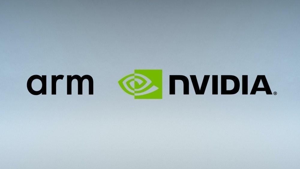 照片中提到了arm、NVIDIA.,跟英偉達有關,包含了英偉達手臂、武器控股、ARM架構、軟銀集團