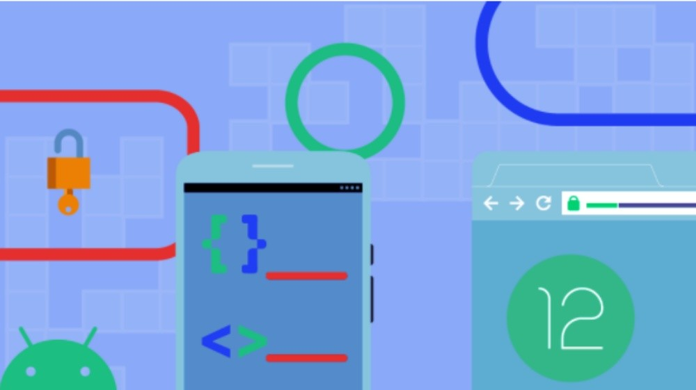 照片中提到了12,包含了圖、安卓系統、Android 12、谷歌、電腦