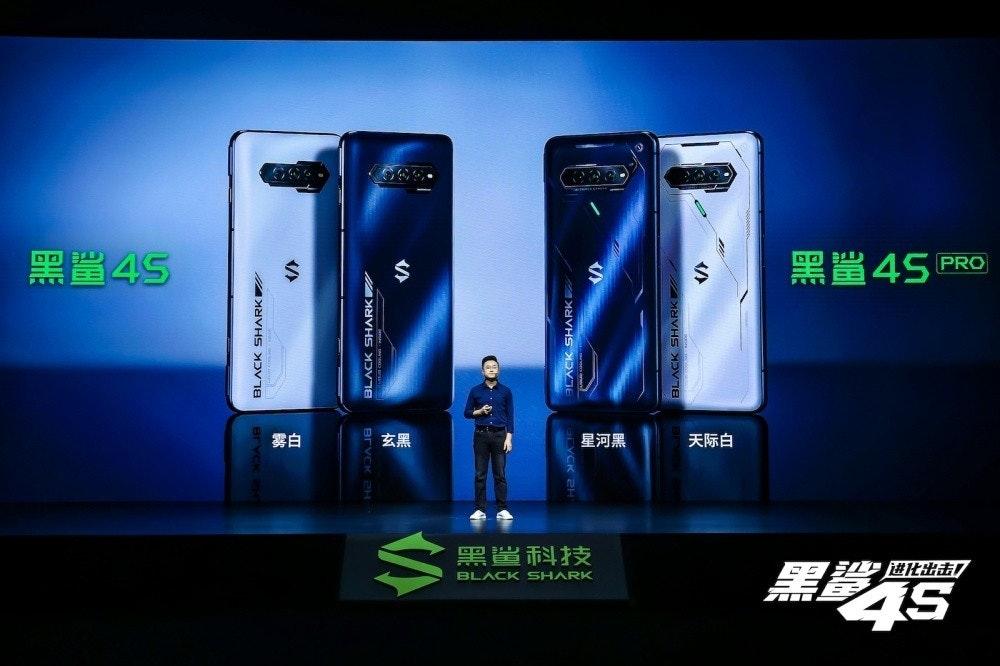 照片中提到了黑置45、黑單45、PRO,包含了電子產品、手機、黑鯊科技、iPhone 4S、256 GB