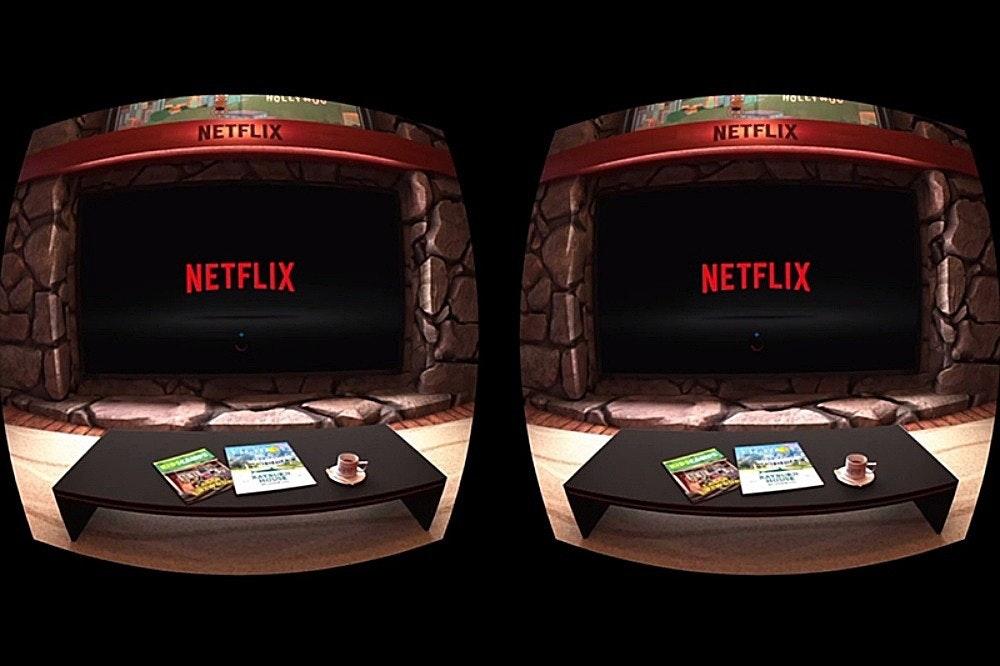 照片中提到了HOLLT、HOLLYH、NETFLIX,跟網飛、網飛有關,包含了網易虛擬現實、三星Gear VR、Oculus任務、虛擬現實、PlayStation VR
