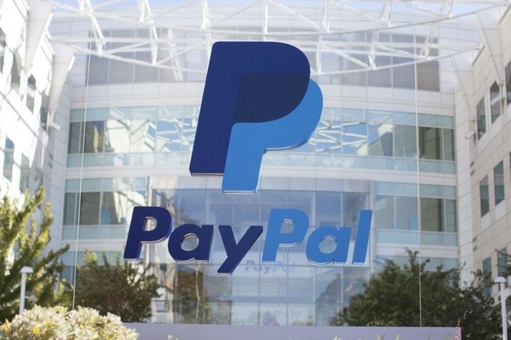 照片中提到了PayPal,跟貝寶有關,包含了貝寶都柏林、納斯達克股票代碼:PYPL、付款