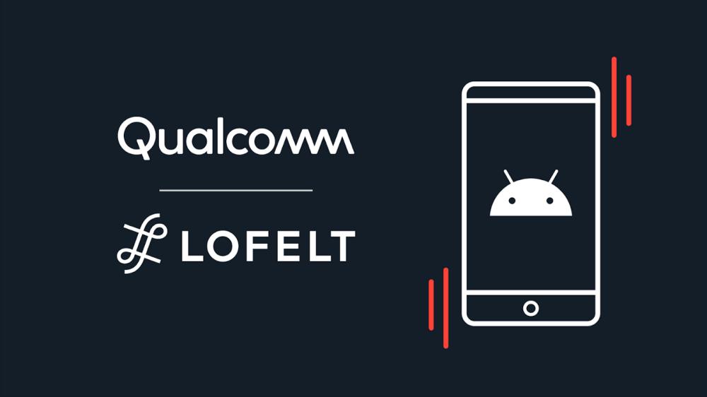 照片中提到了Qualcomm、L LOFELT,跟高通公司有關,包含了設計、軟件、平面設計、商標