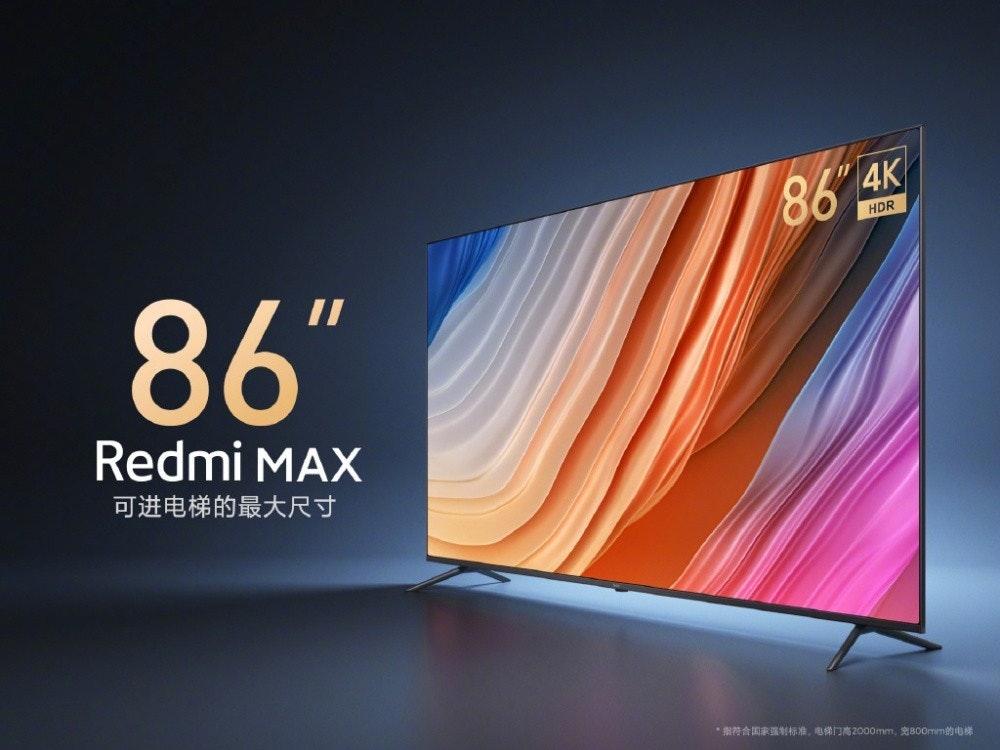 """照片中提到了86 4K、HDR、86"""",跟索尼Xperia Z5 Premium有關,包含了展示廣告、紅米、小米、紅米K40、IPS面板"""